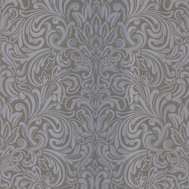 Salon Wavy Damask Wallpaper   Traditional   Wallpaper   by Brewster 640x640