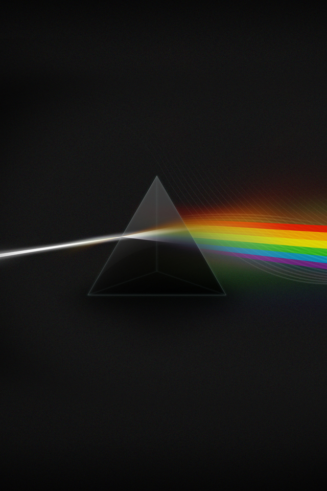 pink floyd the dark side of the moon light spectrum iPhone4 640x960 640x960