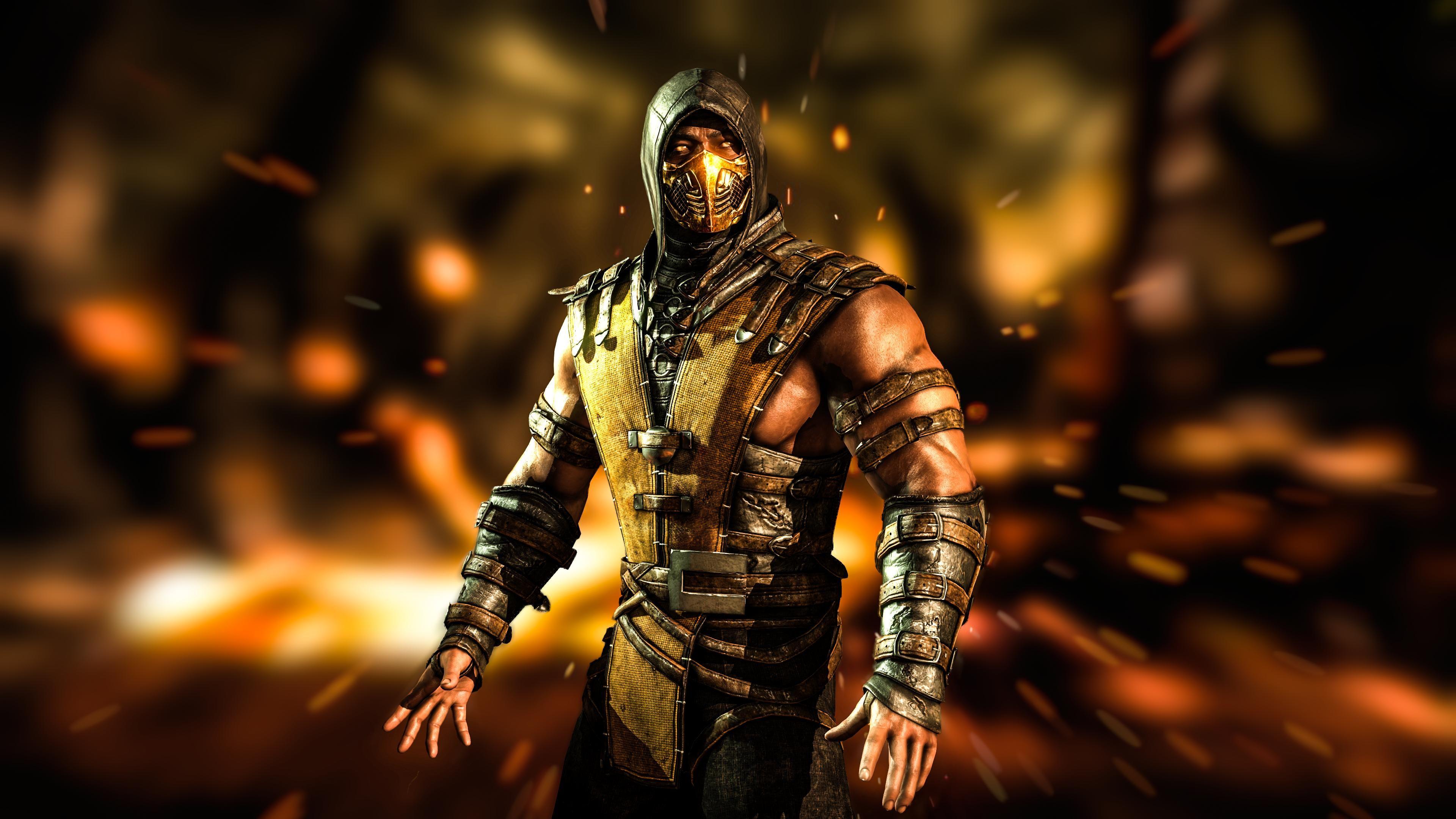 download Mortal Kombat X Scorpion Wallpaper HD Desktop 3840x2160