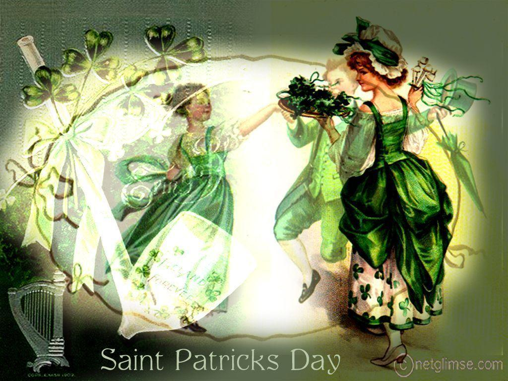 Patricks Day Vintage Card   Vintage St Patricks Day 198703 1024x768