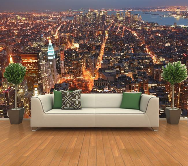 Manhattan Skyline wall mural wallpapers decor photo wallpaper 651x577