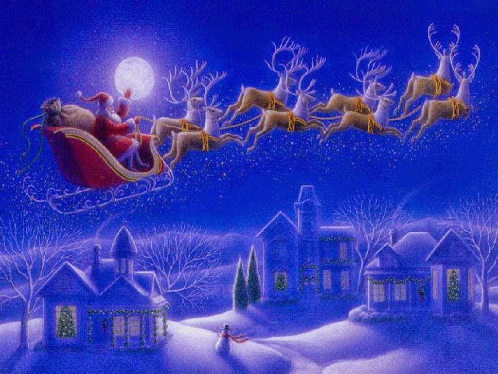 Animated Christmas Desktop Wallpaper in high resolution for 1024x768