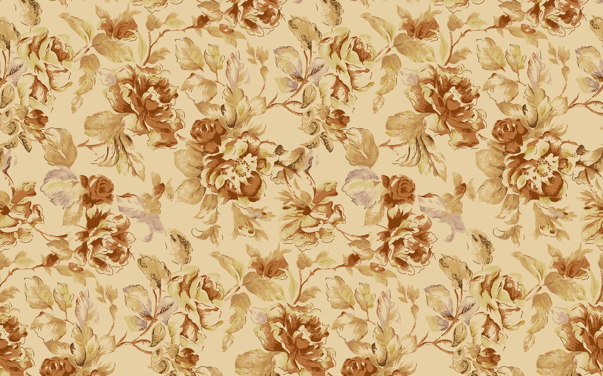 Download Vintage floral pattern wallpaper 1229x768
