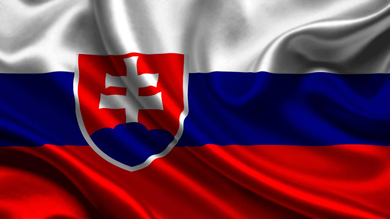 Wallpapers Slovakia Flag Stripes 1280x720