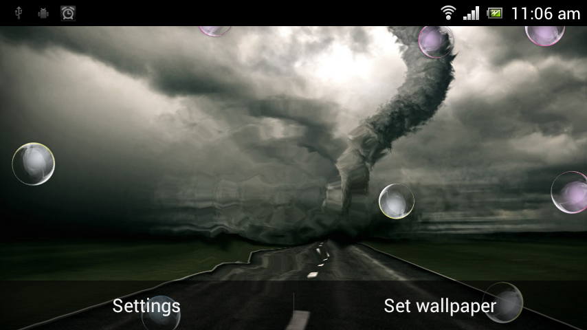 Tornado HD Live Wallpaper   screenshot 854x480