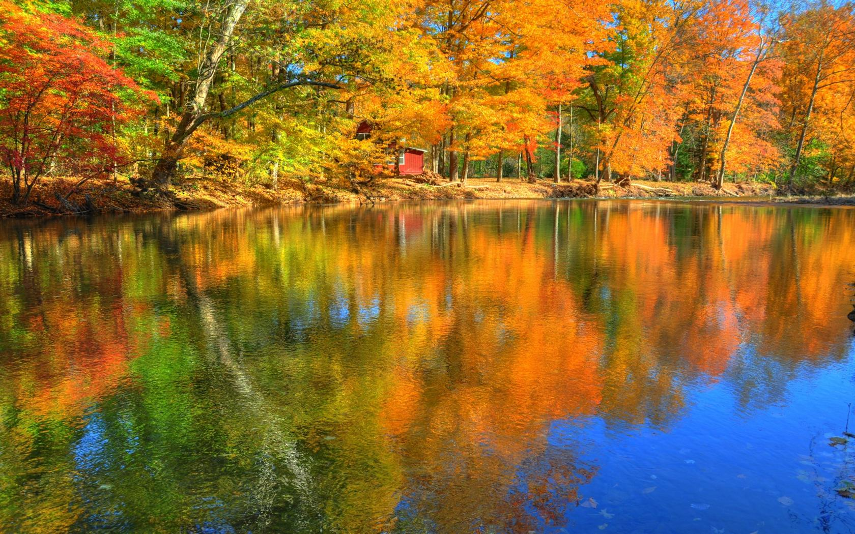 Reflections of Autumn Desktop Wallpaper Background Desktop Wallpaper 1680x1050