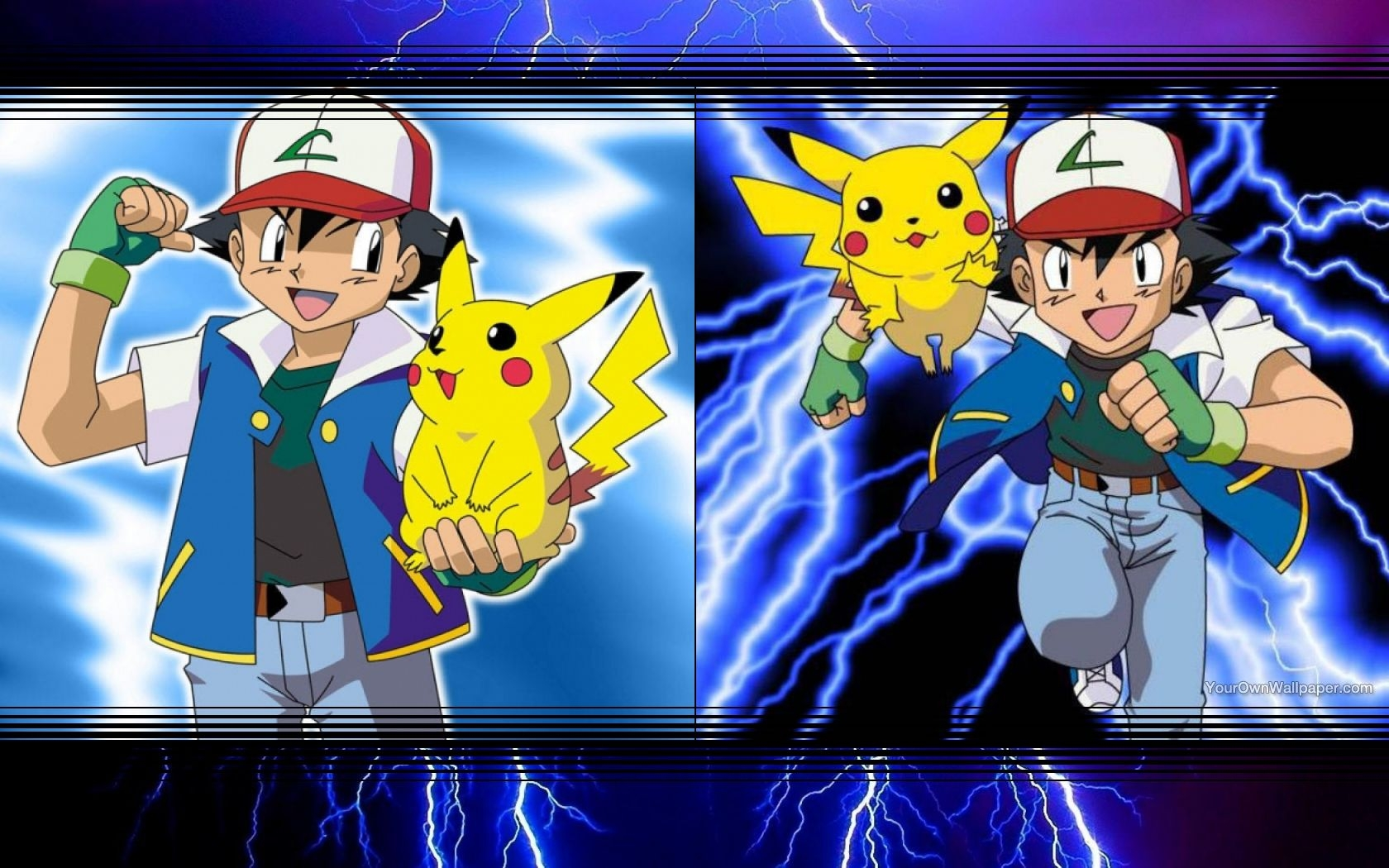 Ash and Pikachu Wallpaper by weissdrum 1680x1050