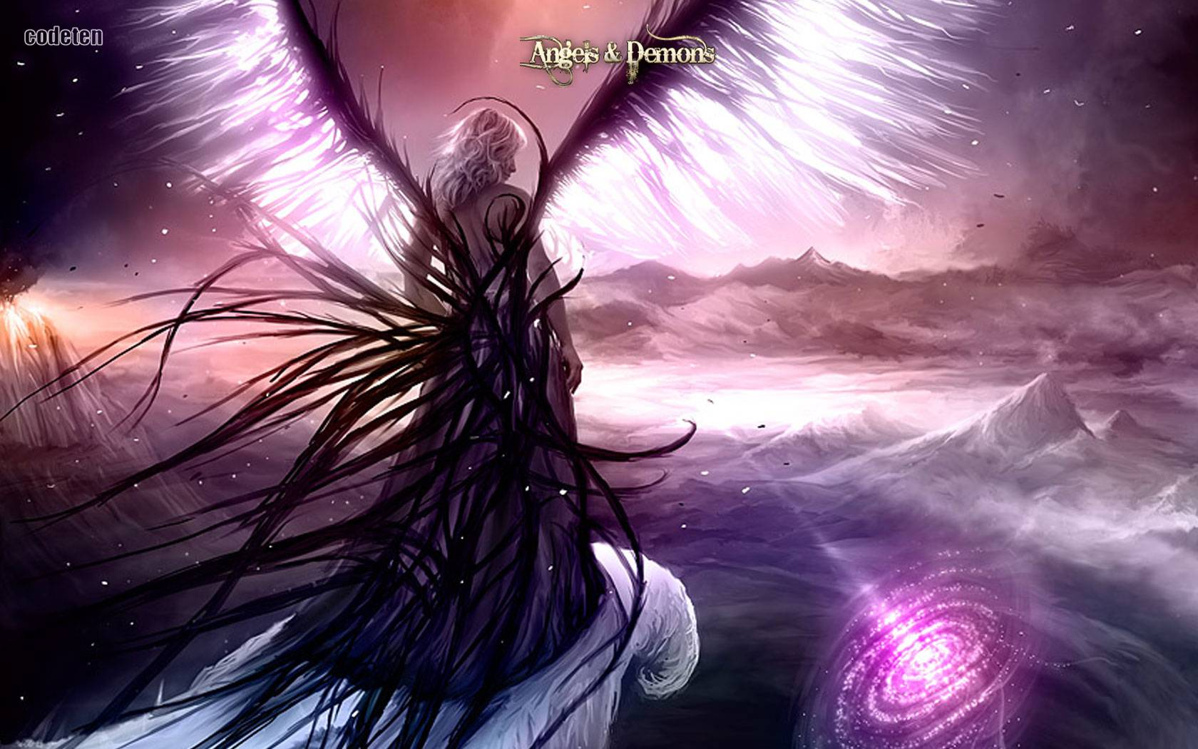 Pin Rose Angel Wings Image Wallpaper Background Picture 1680x1050