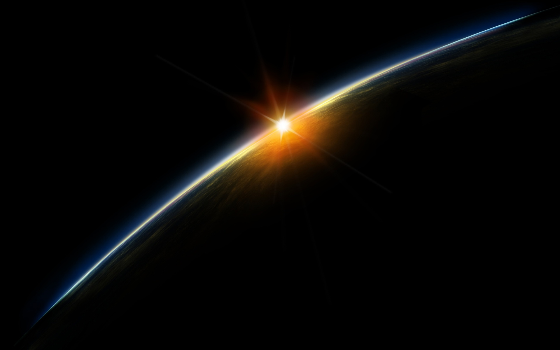 cool space wallpapers background backgrounds sunrise twitter 1920x1200
