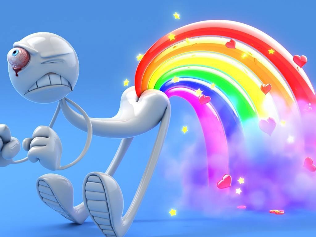 Rainbow fart wallpaper 1024x768