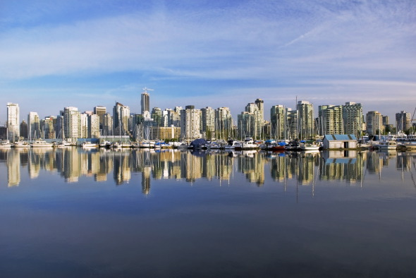 vancouver s city skyline reflection vancouver s such a great city 590x394