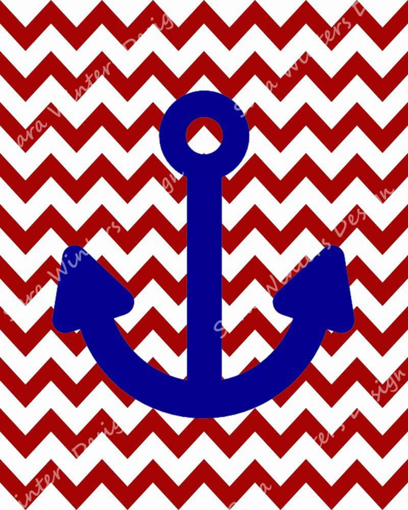 Cute Anchor And Chevron Wallpaper Chevron anchor background blue 800x1000