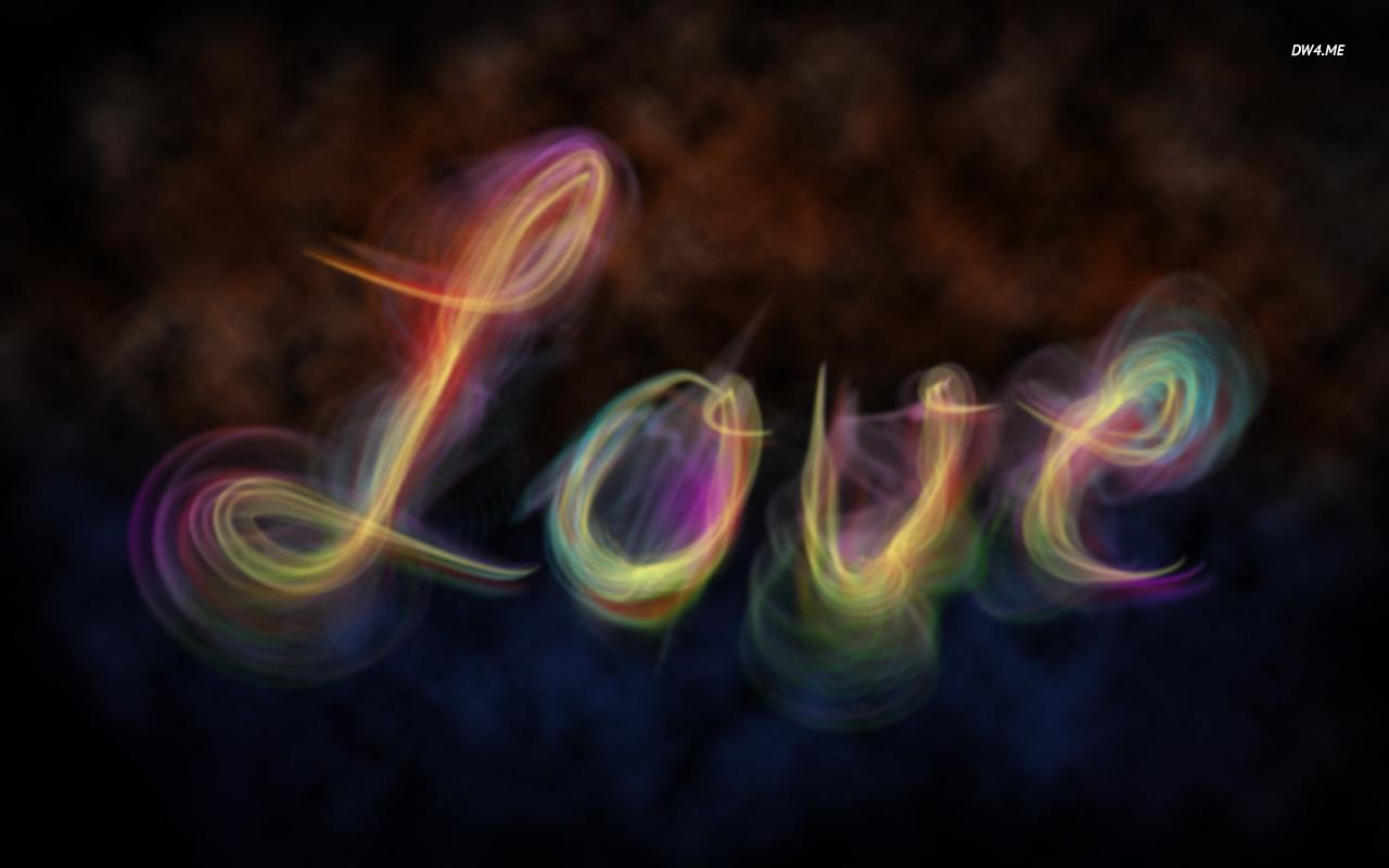Colorful smoke love wallpaper 1366x768 Colorful smoke love wallpaper 1280x800
