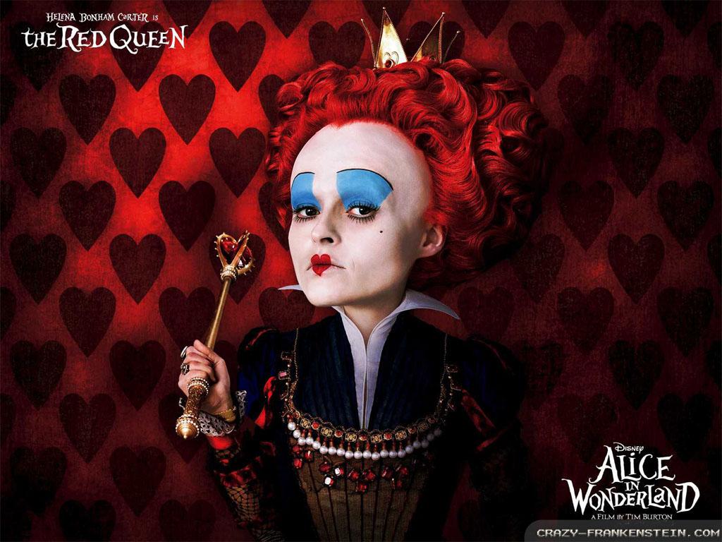 queen of hearts Alice in wonderland movie wallpapers 1024x768
