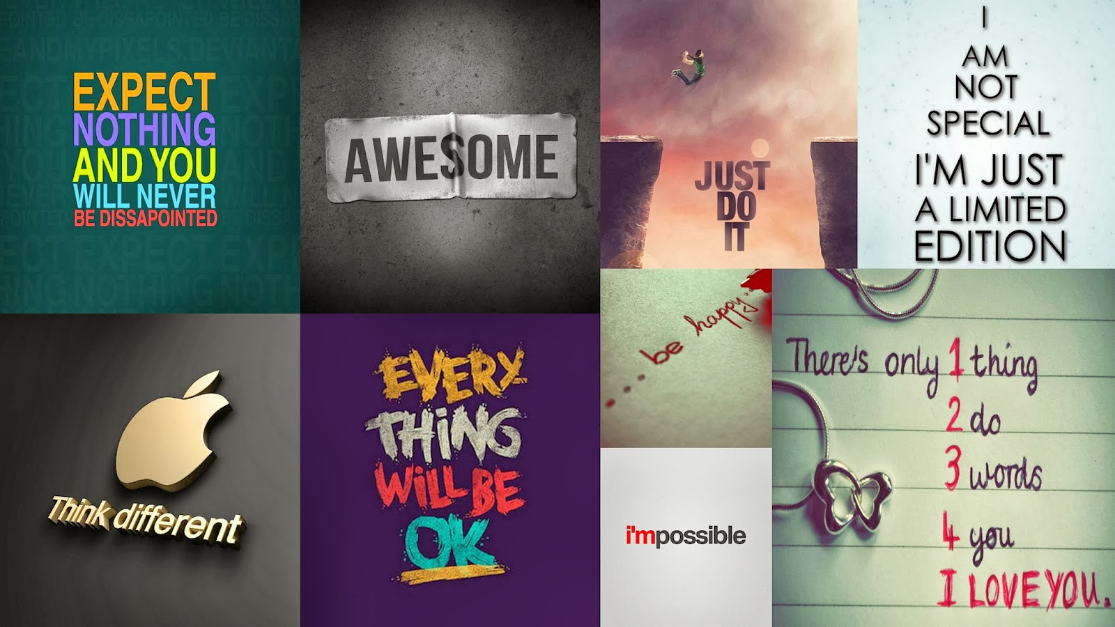 Download Signs Sayings Wallpapers Pack For iPad 1600x900