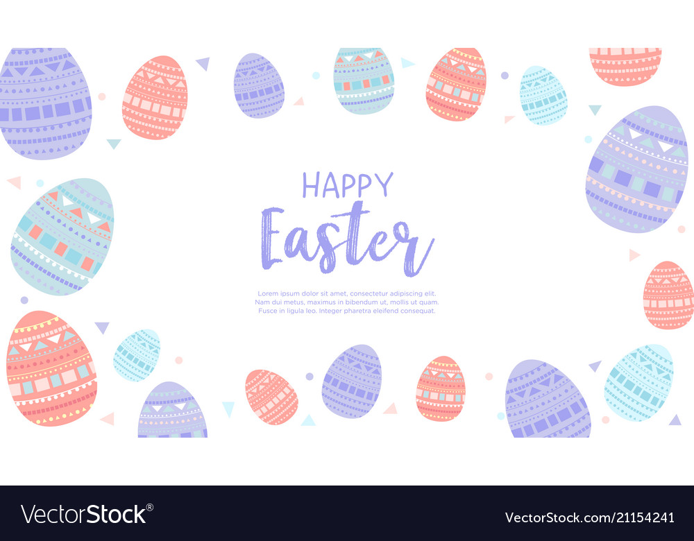 Happy easter wallpaper with eggs Royalty Vector Image 1000x780