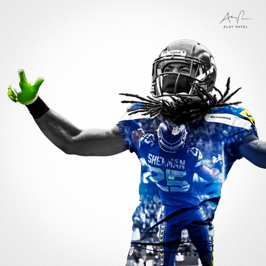 Richard Sherman   Seattle Seahawks by alaypatel 900x900