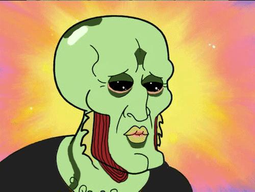 Handsome Squidward Meme Thane squidward 500x376