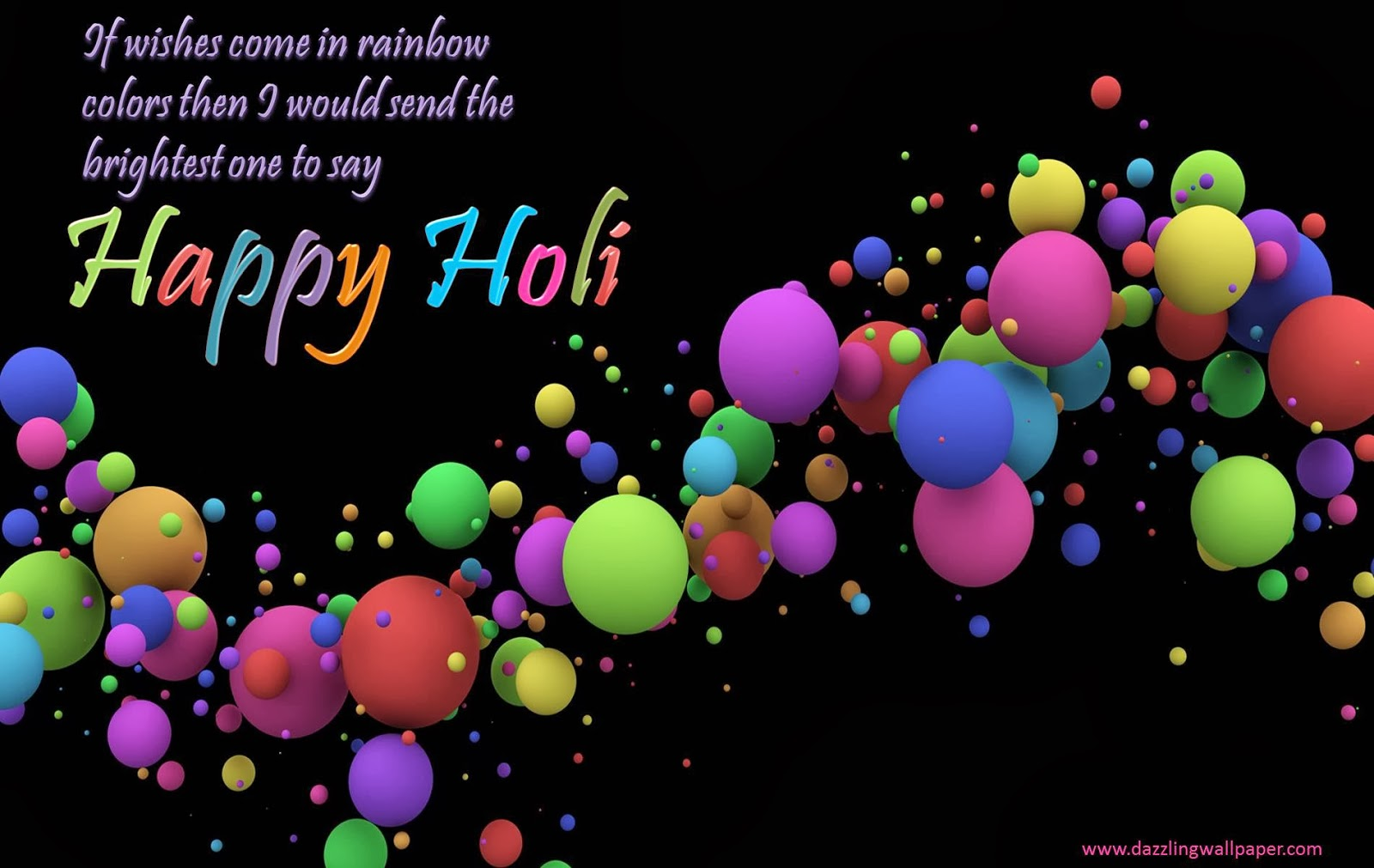 Happy Holi 2014 Animated 3D wallpapers Download Happy Holi 1600x1011