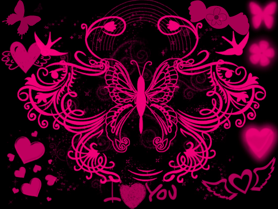 Black And Pink Wallpaper by angeldollyrockz 560x421