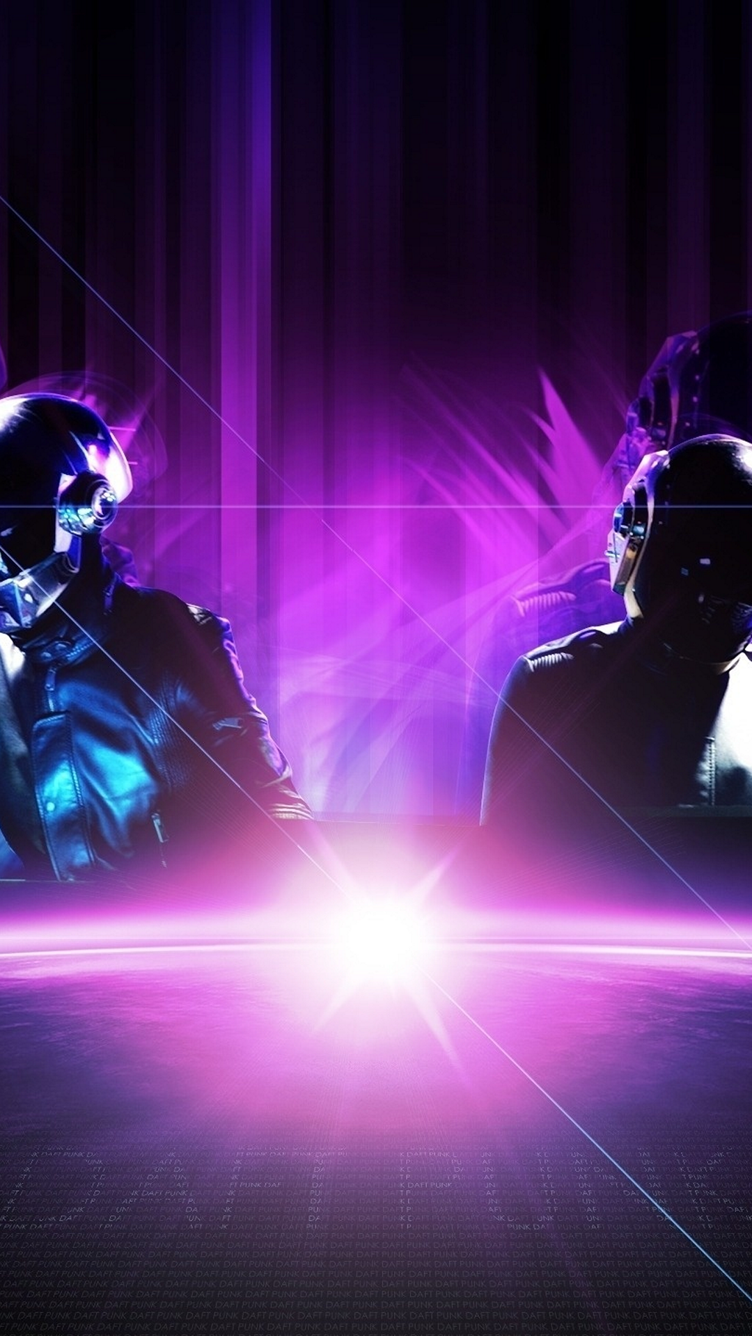 Wallpaper for galaxy s4 with daft punk with purple tone in 1080x1920 1080x1920