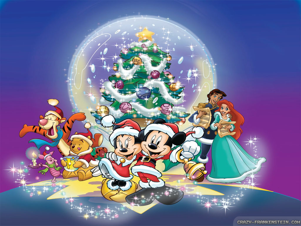 wallpapers merry christmas disney disney christmas wallpapers 1024x768 1024x768