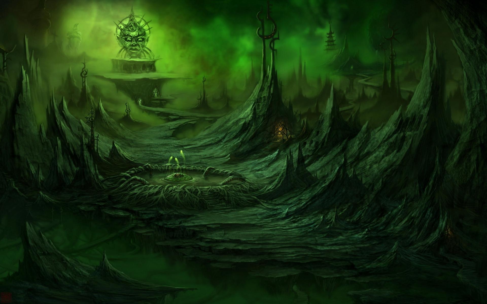 evil landscape background - photo #4