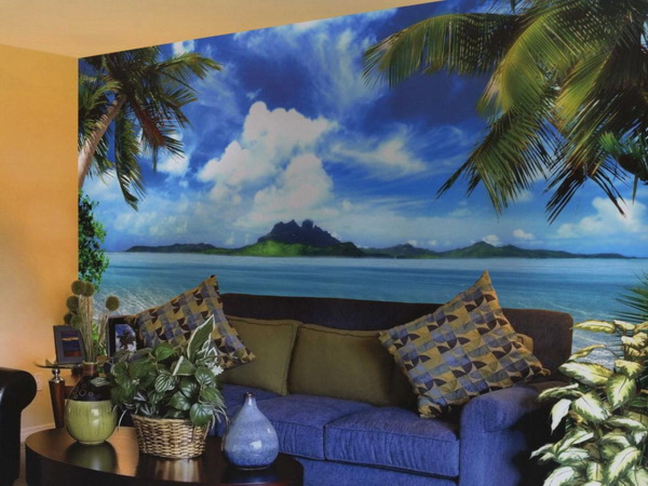 tropical wall mural 1280x960