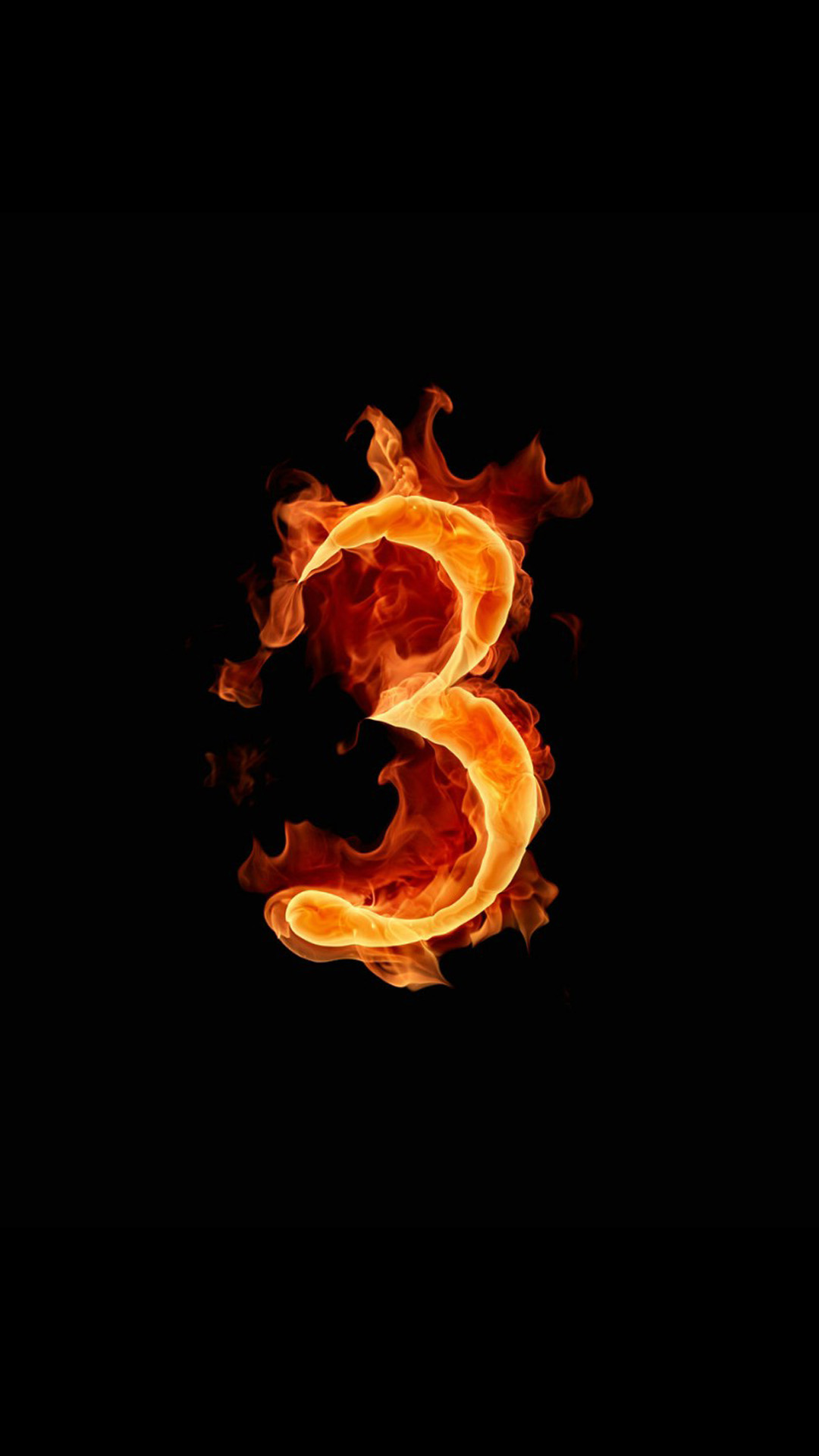 Fire number 3 Galaxy Note 3 Wallpapers iPhone7 1080x1920