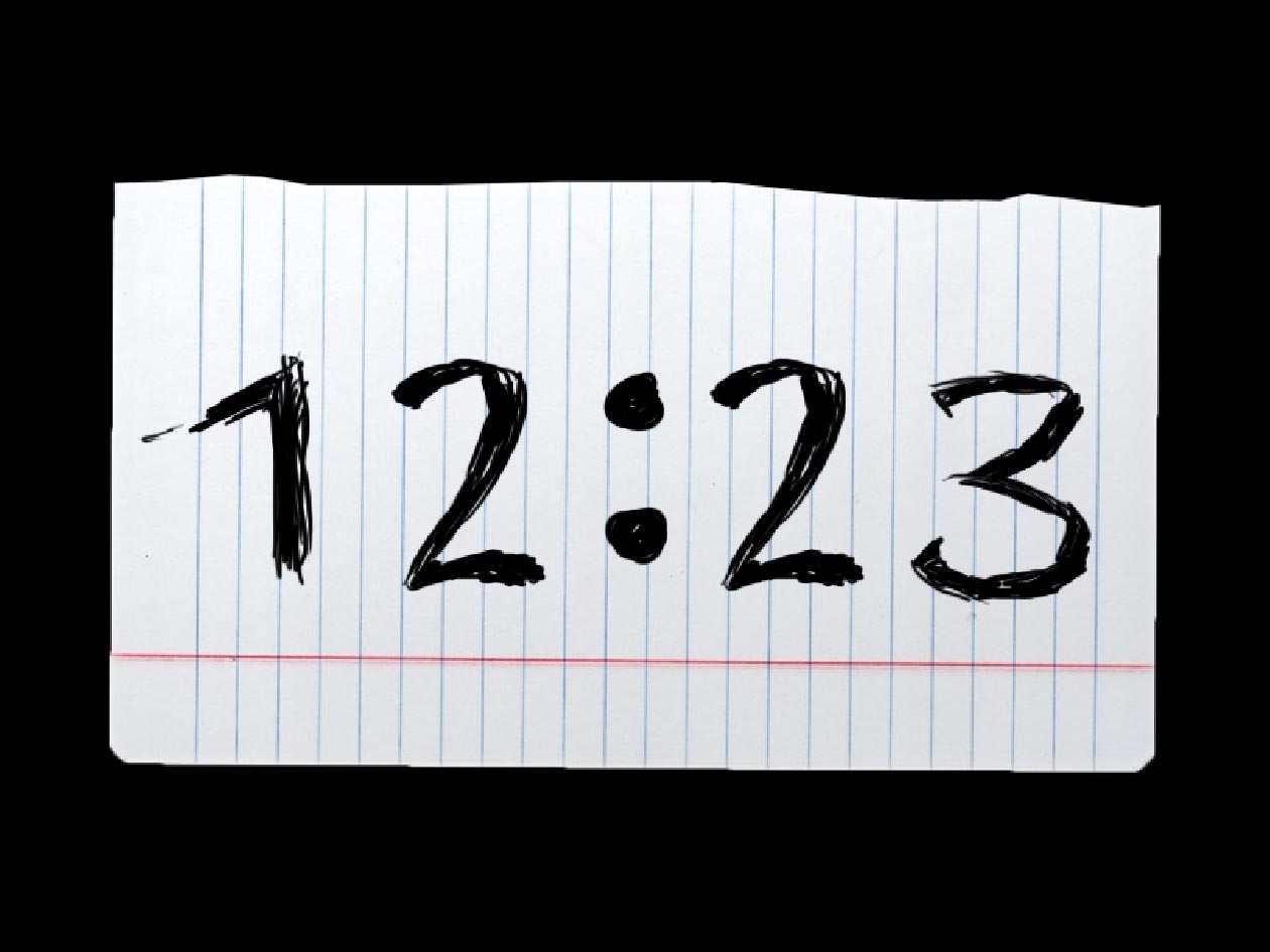 Dive into the Present Time with Blot Clock screensaver 1260x945