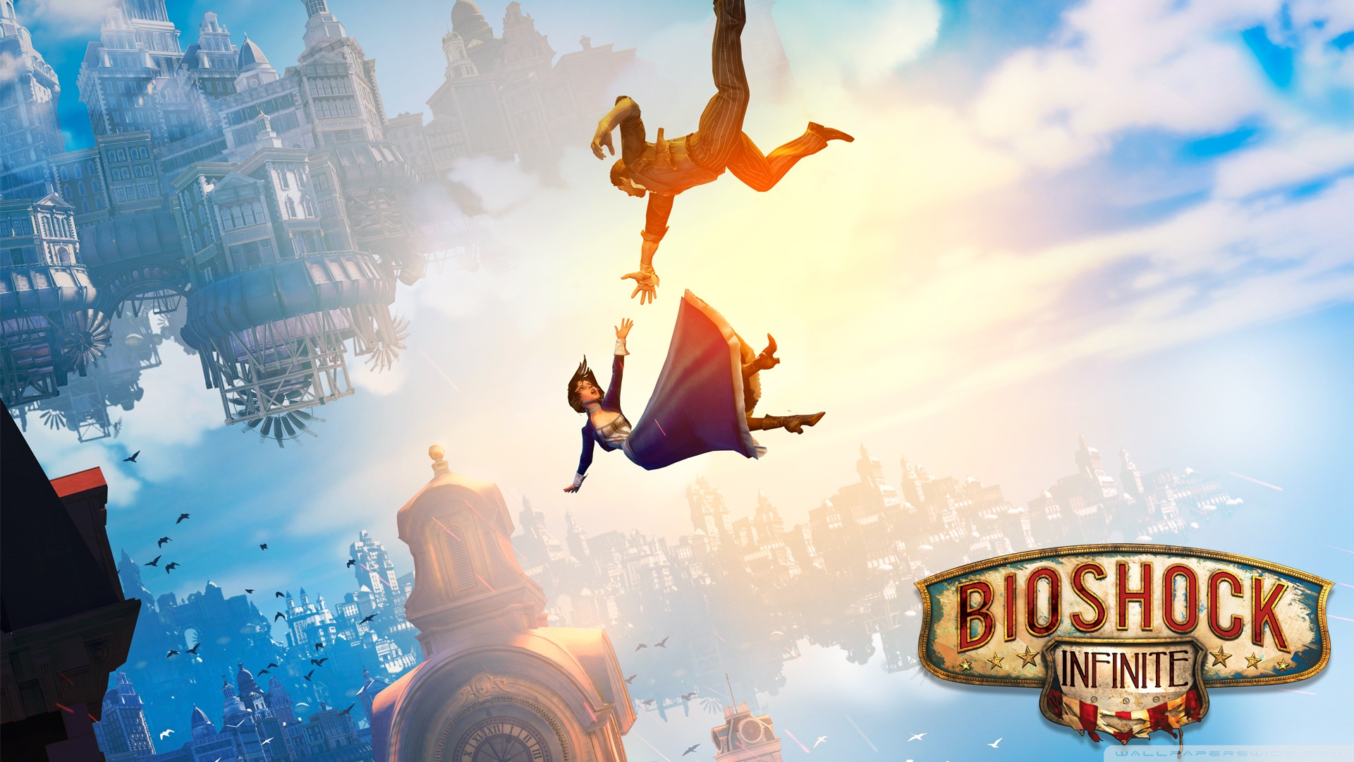 BioShock Infinite Falling 4K HD Desktop Wallpaper for 4K Ultra 1920x1080