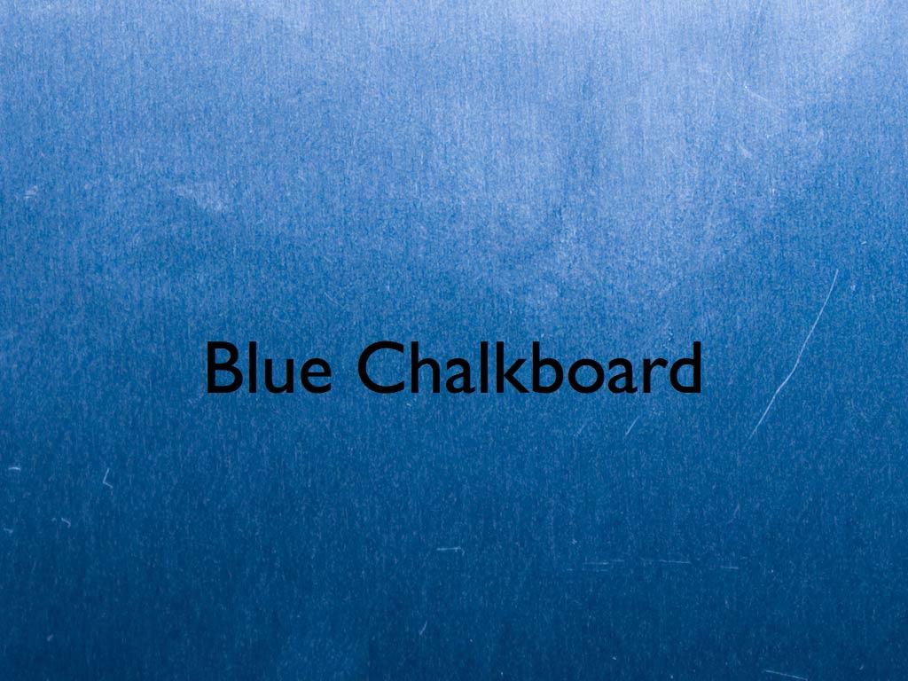 Blue Chalkboard Keynote Template IWork Templates Frame 1024x768
