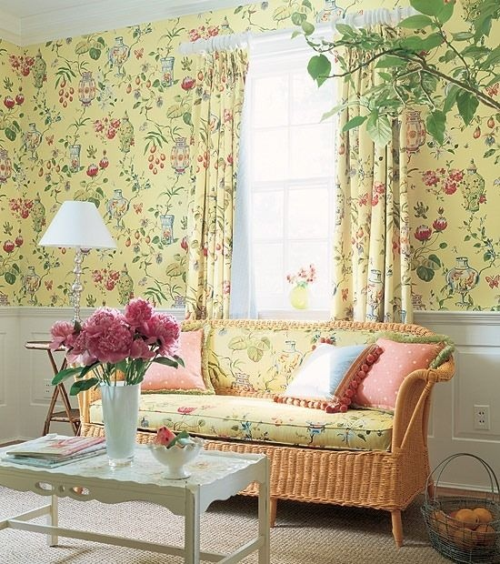 Coordinating wallpaper fabric For the Home Pinterest 550x620