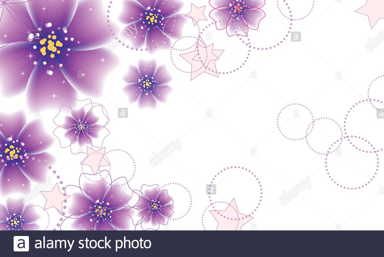 Elegant floral background with abstract purple flowers Stock 1300x870