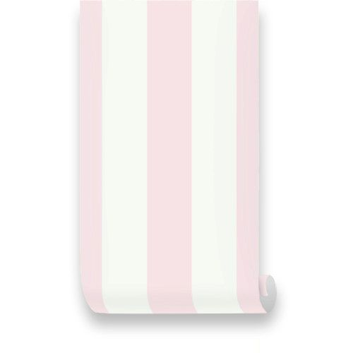 Monroe Stripes Pink Removable Wallpaper Peel Stick by WallPlays 35 500x500