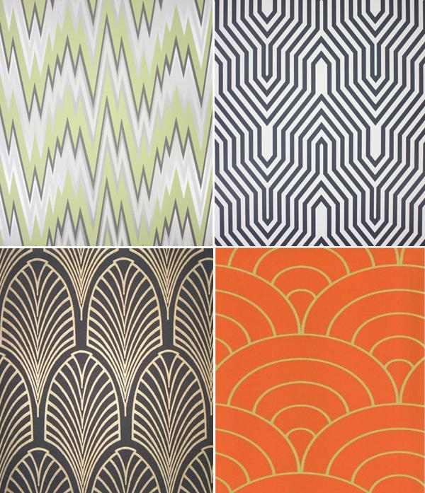 Art Deco Print Wallcovering Wallpaper Designs The 600x697