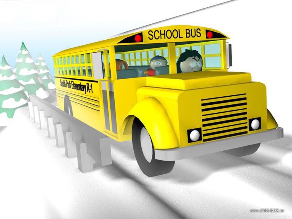 School bus   Best wallpapers on your desktop Cartoons 1024x768