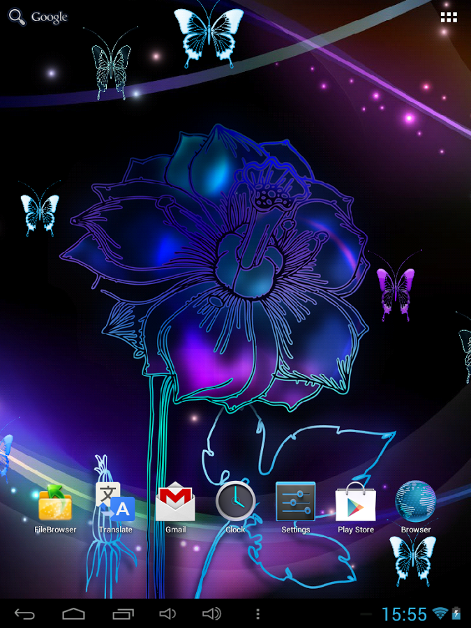 Neon Butterfly Live Wallpaper   Android Apps on Google Play 675x900