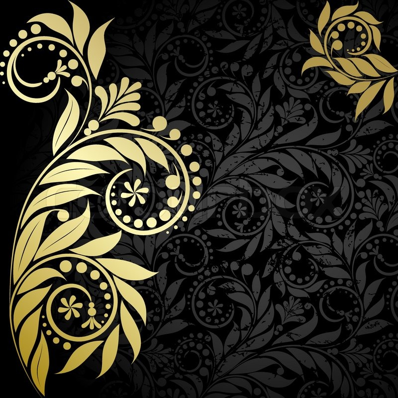 Black White and Gold Wallpaper - WallpaperSafari