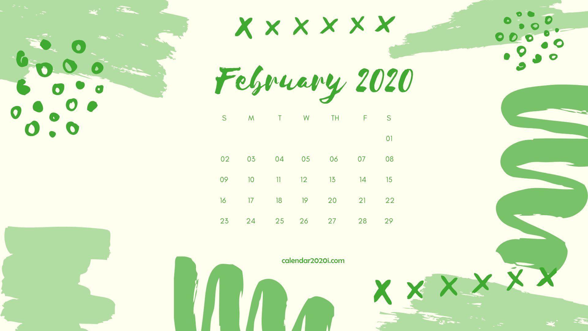 February 2020 Calendar Desktop Wallpaper Printable calendar 1920x1080