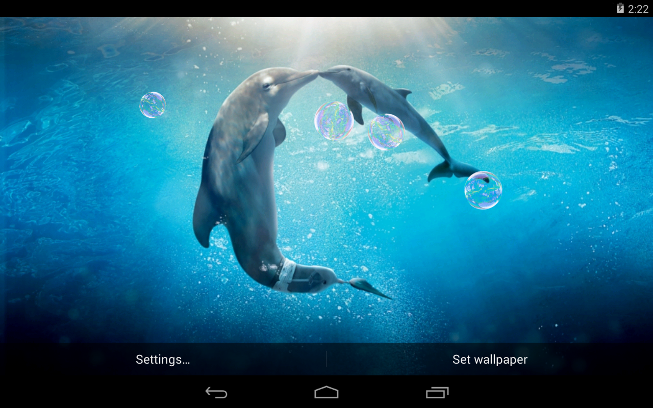 dolphins live wallpaper beautiful android live wallpaper that 1280x800