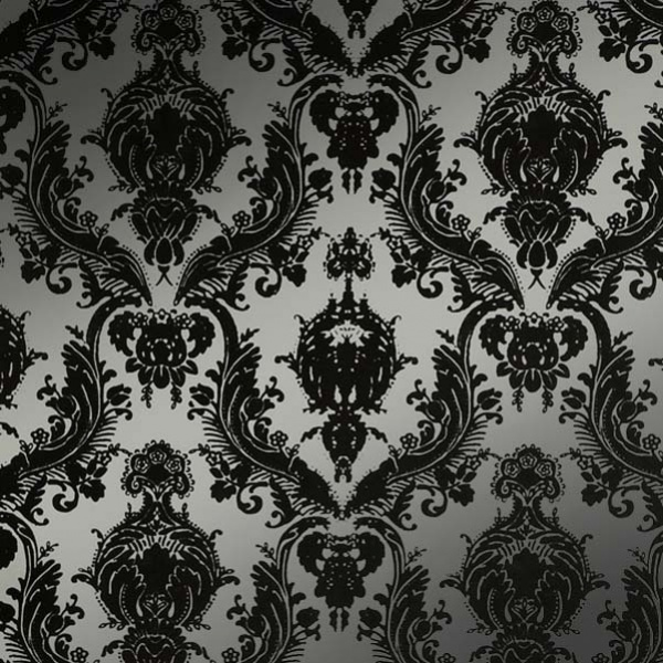 Tempaper Damsel Metallic Silver wallpaper by Couture Deco 600x600