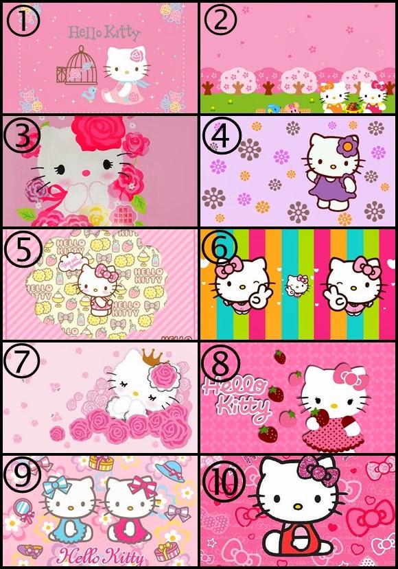 Wallpaper Border Hello Kitty 580x829