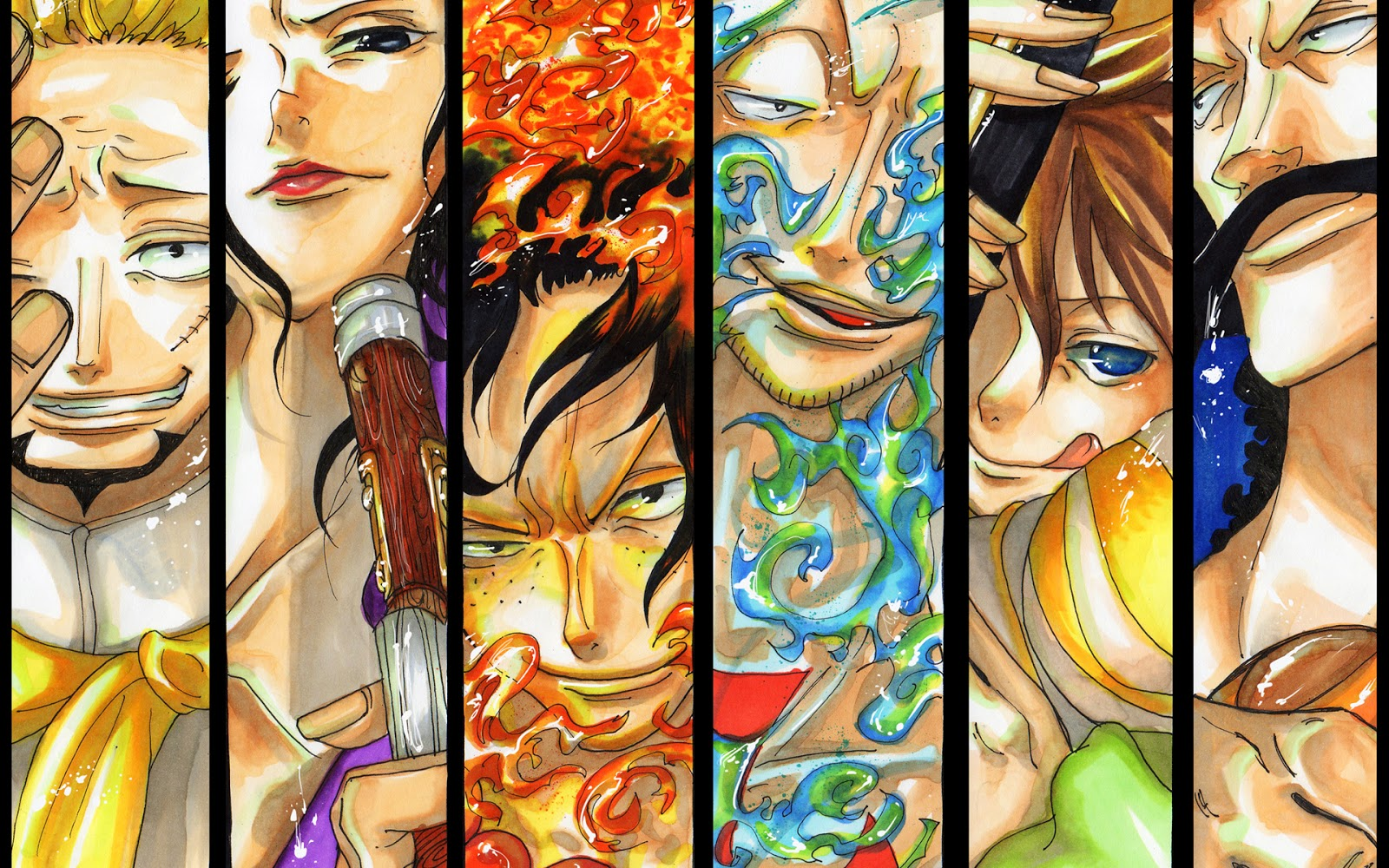 whitebeard pirates one piece hd wallpaper image picture 1600x1000