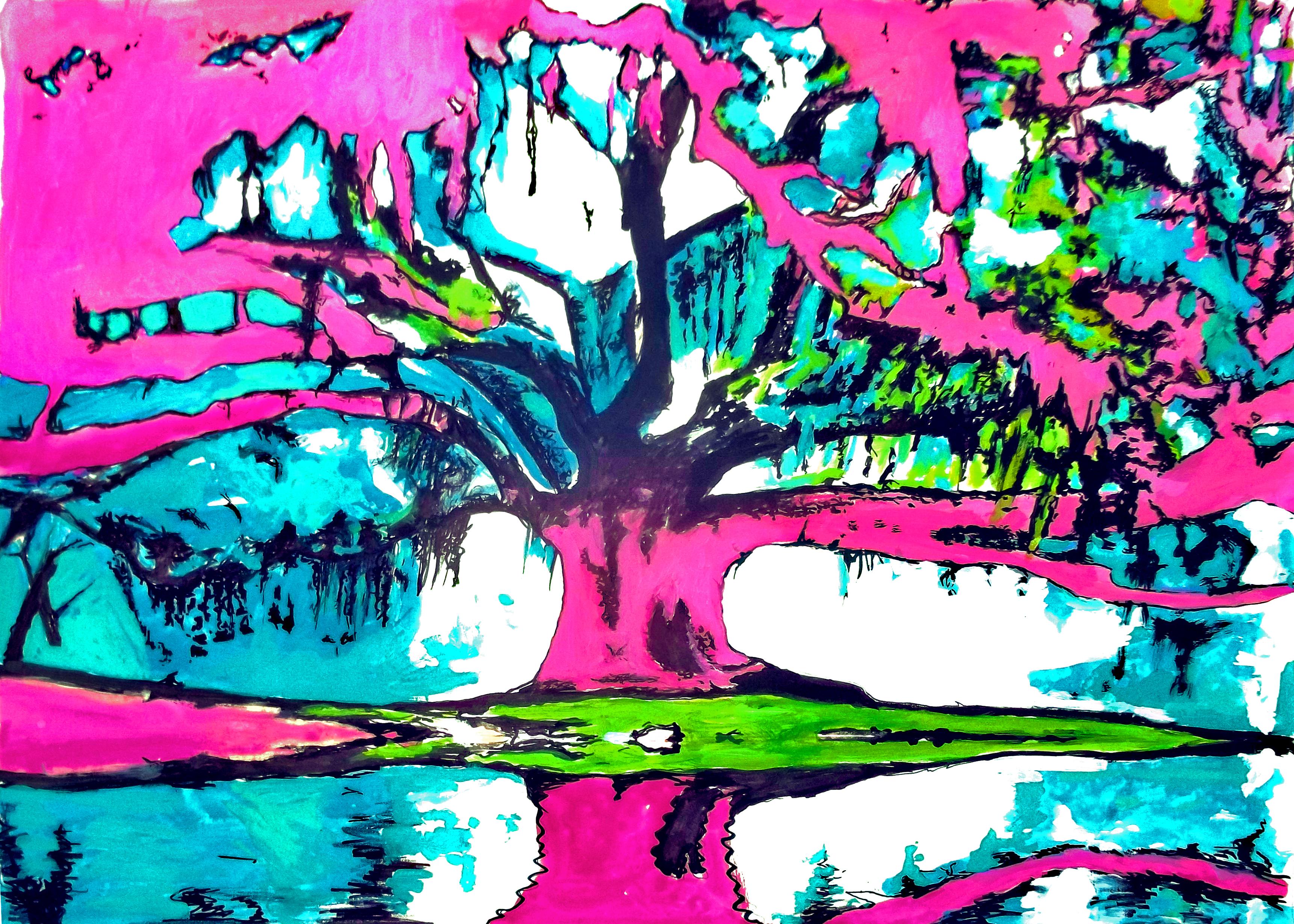 Trippy Hippie WallpapeTrippy Tree Desktop Backgrounds