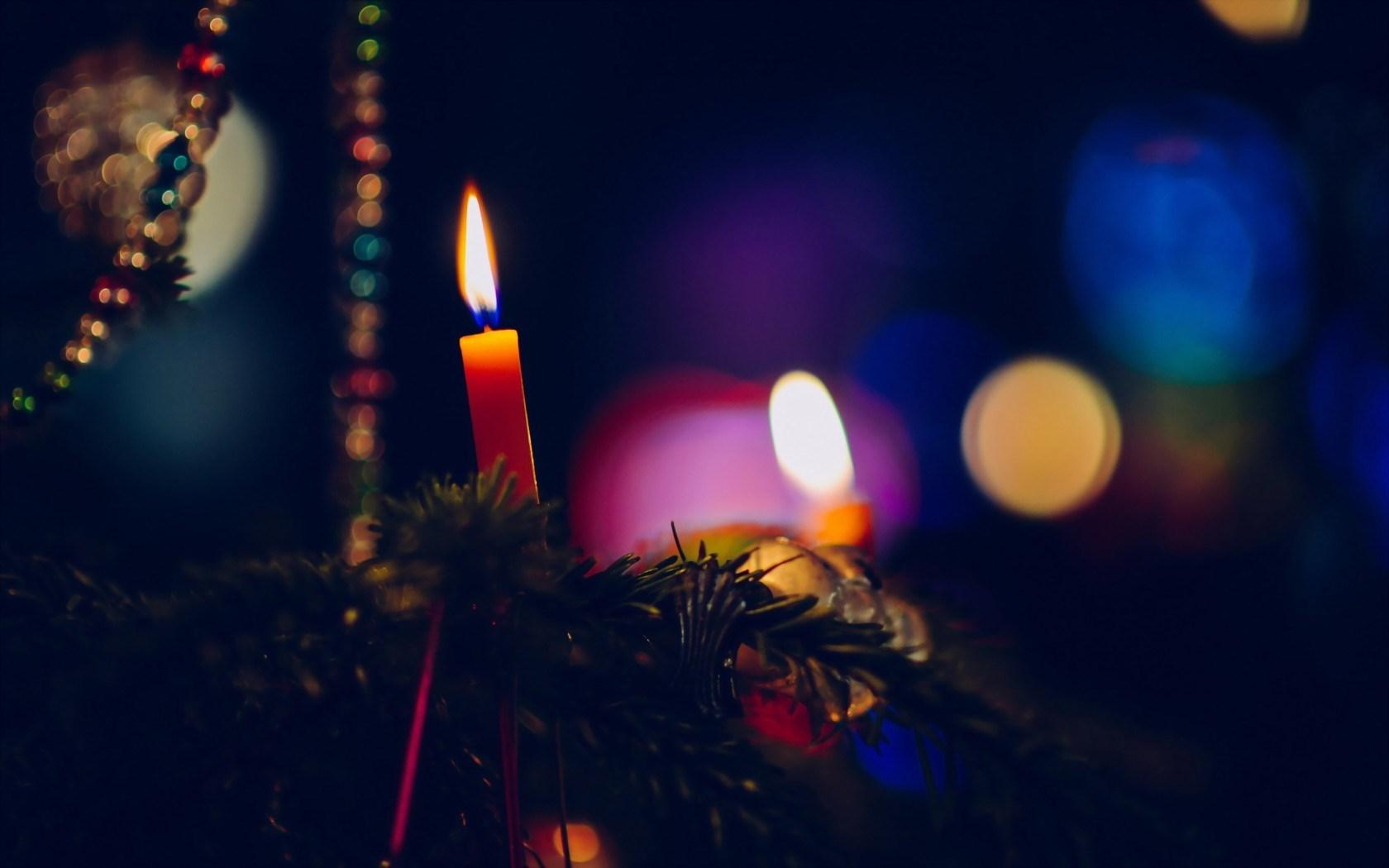 Christmas Trees Candles Images Wallpaper Wallpapersafari