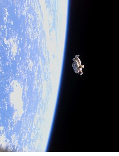 Empty Floating Space Suit Wallpaper for Amazon Kindle Fire HD 89 450x590