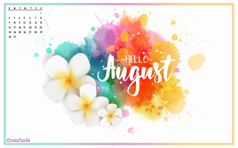 August 2020   Hello August Desktop Calendar  August Wallpaper 1440x900
