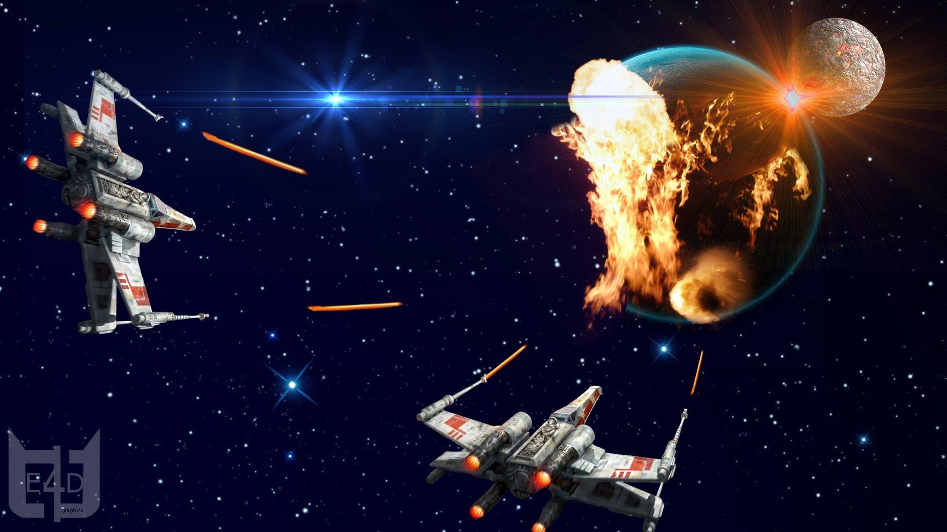 E4D Graphics Space War Wallpaper Speed Art 1920x1080