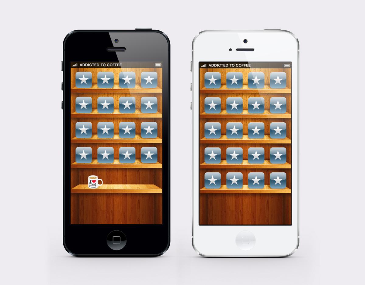iphone 5 wallpaper wooden shelf by twinware customization wallpaper 1200x939